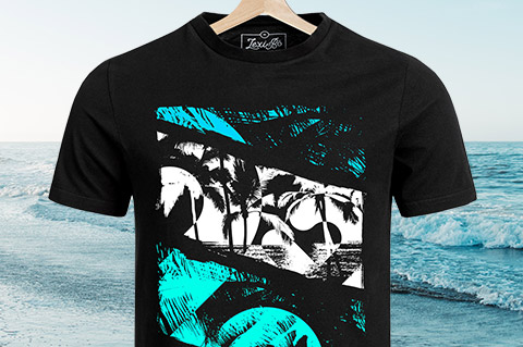 Black-At-The-Beach-Men-Shirt
