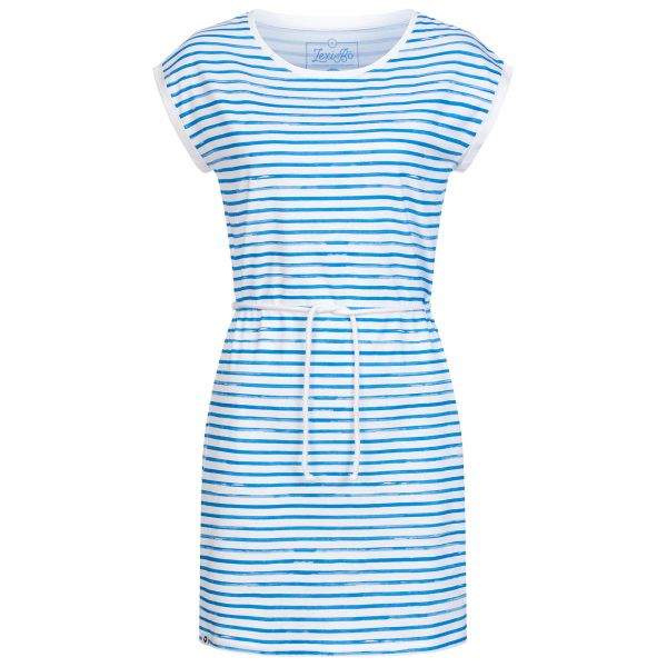Jerseykleid White Stripes