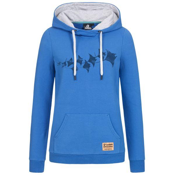 """Ladies Hoodie """"Manta Rays"""" - Hooded sweatshirt with maritime manta print design"""