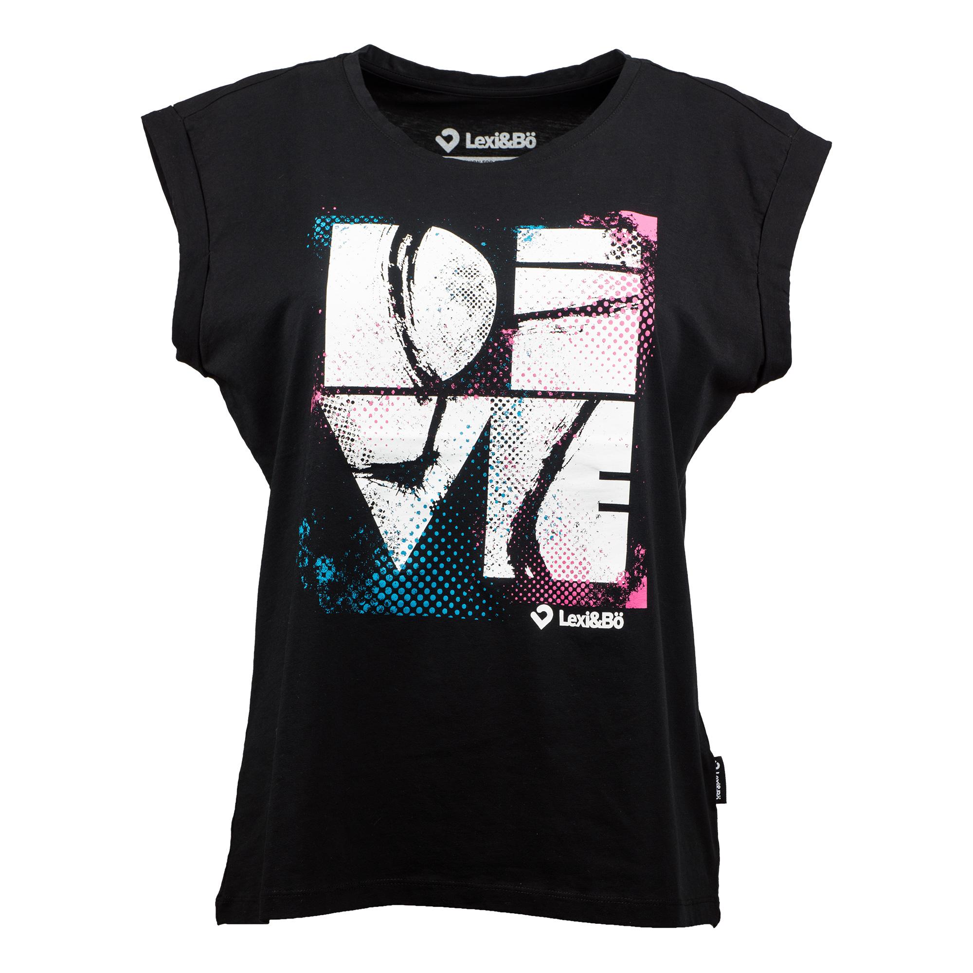 f21b3eaf1 ... Preview: DIVE T-shirt women. Dive Damen Beach Cut black mit großem  Frontprint - Vorderansicht