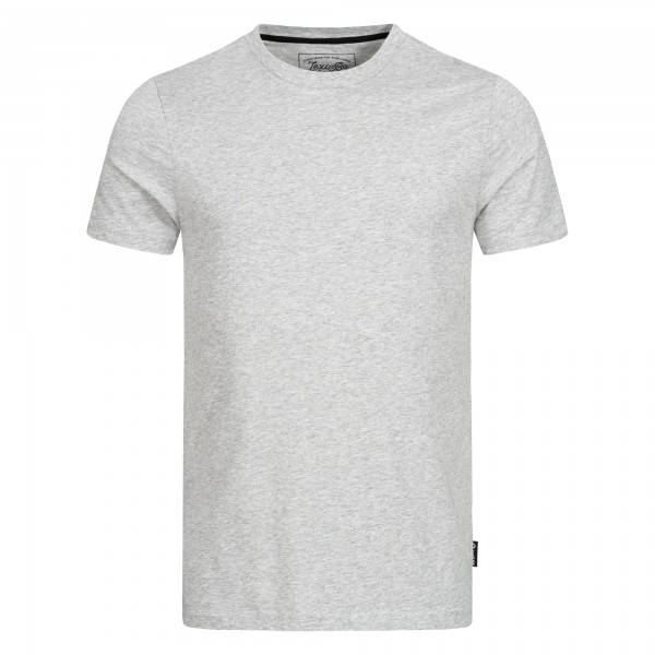 Men's basic t-shirt grey melange front