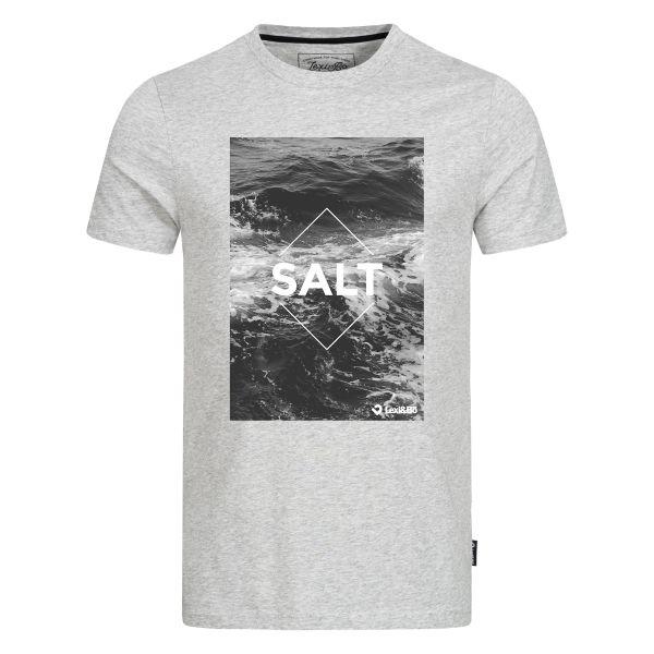 SALT T-Shirt für Herren in grau melange von Lexi&Bö - Vorderseite