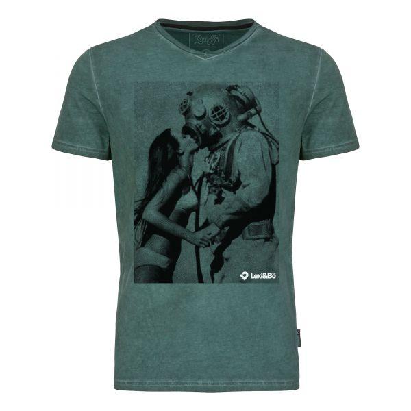 Vintage Diver Men V-neck T-shirt