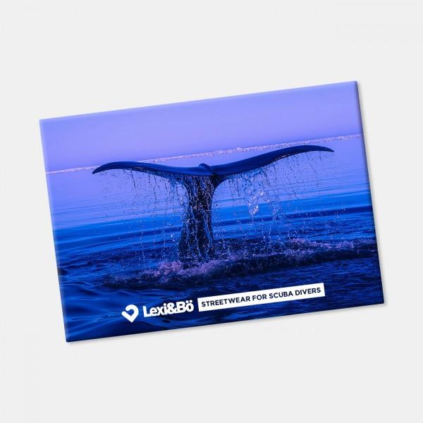 Whale Fin Kühlschrankmagnet