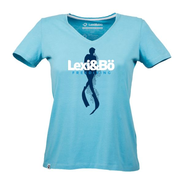 Freediving V-Neck T-Shirt Damen