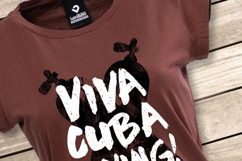 Lexi-Bo-T-Shirt-Design-Style-Viva-Cuba-Diving-Red-Women