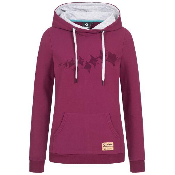 """Ladies Hoodie """"Manta Rays"""" - Hooded sweatshirt with maritime manta motif print"""