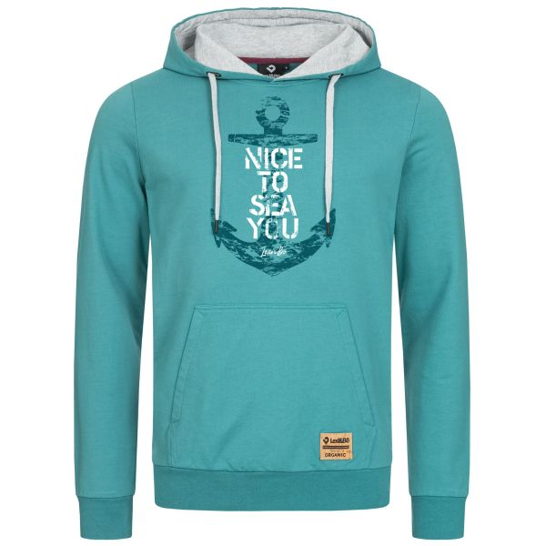 """Men's Hoodie - Hooded jumper with statement print """"Nice to sea you"""