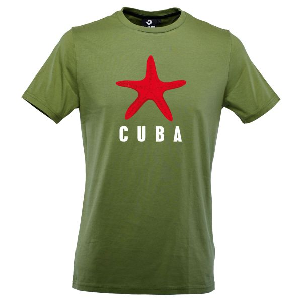 Cuba Star T-Shirt Men kale green