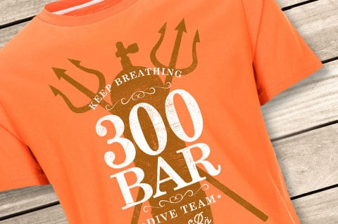 LexiBo-Herren-T-Shirt-300-Bar-Dive-team-Orange-Oriole-Style