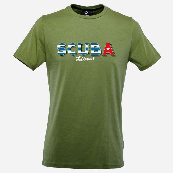 Scuba Libre T-Shirt für Männer in Kale Green; Vorderansicht