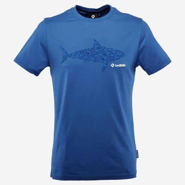 Smart Sardines T-Shirt für Herren in turkish blau - Vorderansicht