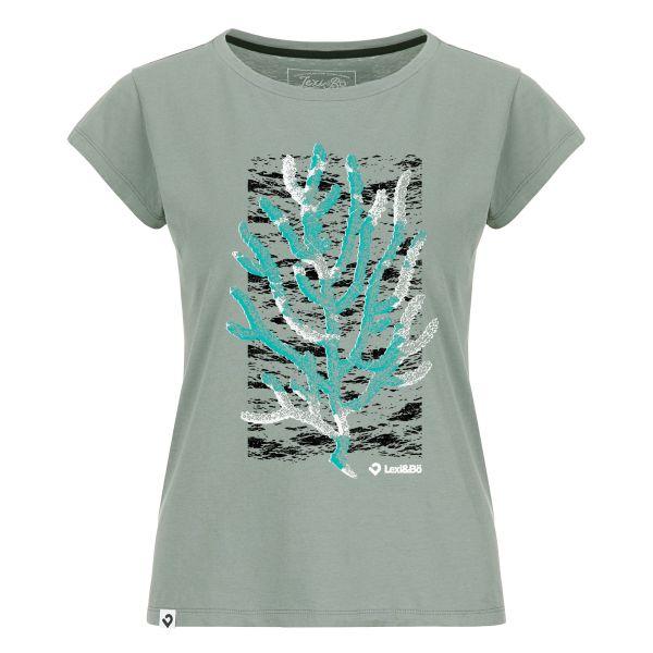 Coral T-Shirt für Damen in basalt grau - Vorderansicht