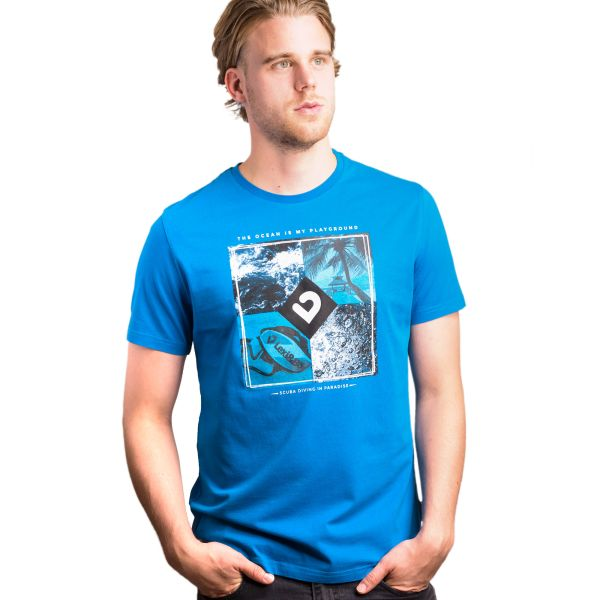 Paradise T-Shirt Men Mykonos blue