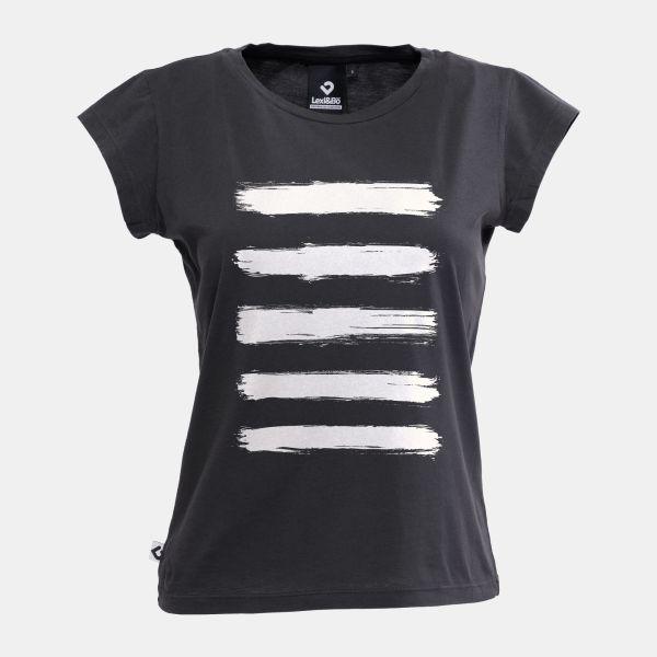 Brushed Stripes T-Shirt Anthrazit