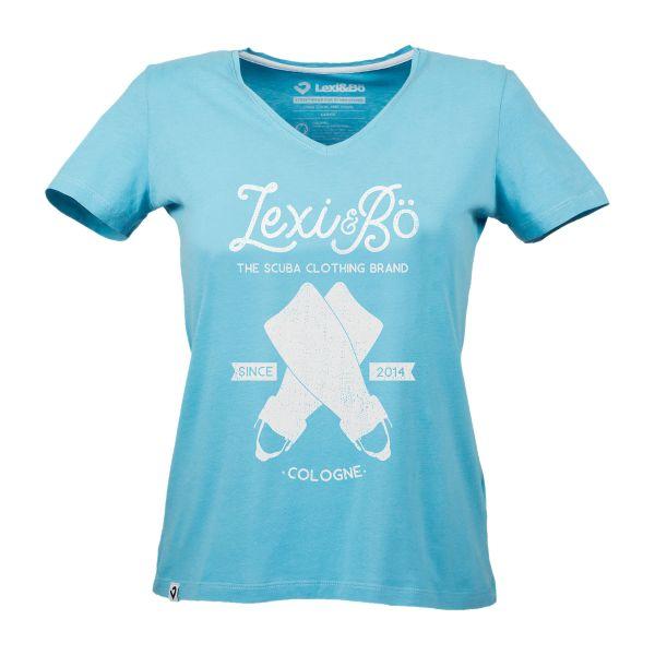Retro-Fins V-Neck T-Shirt Women