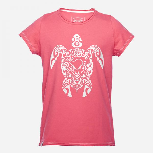 Tribal Turtle Mädchen T-Shirt