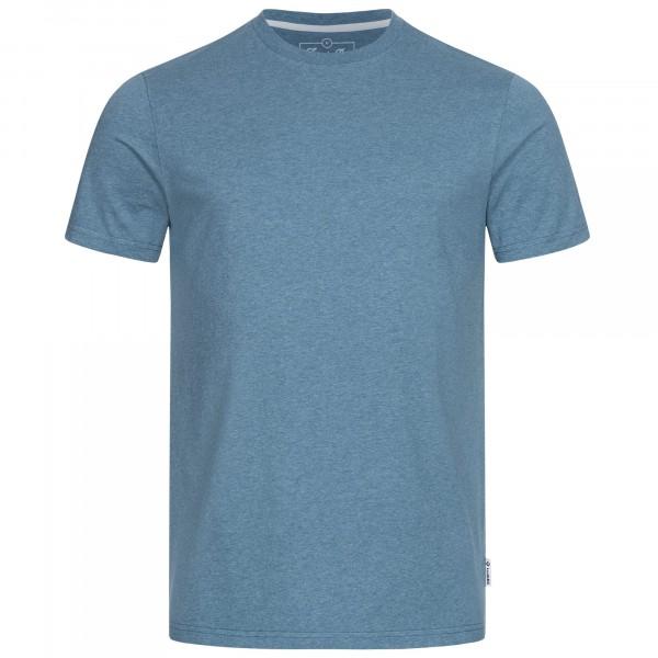 Men's basic t-shirt blue melange front