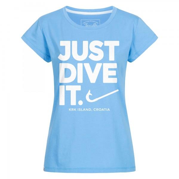 Just Dive It. Damen T-Shirt
