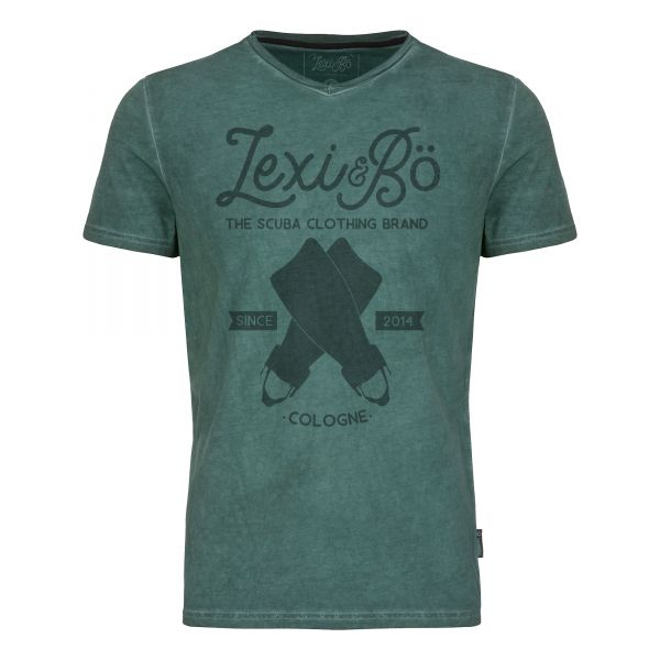 Retro Fins men's v-neck t-shirt