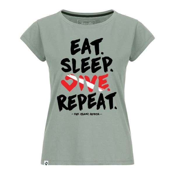 Eat. Sleep. Dive. Repeat. Damen T-Shirt