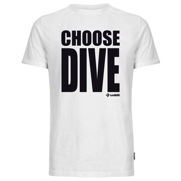 Choose Dive T-Shirt für Herren in weiß von Lexi&Bö - Vorderseite