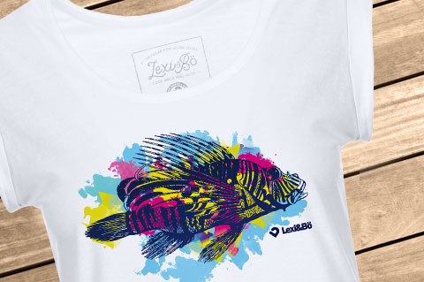Lexi-Bo-T-Shirt-Design-Style-Lionfish-Women-white