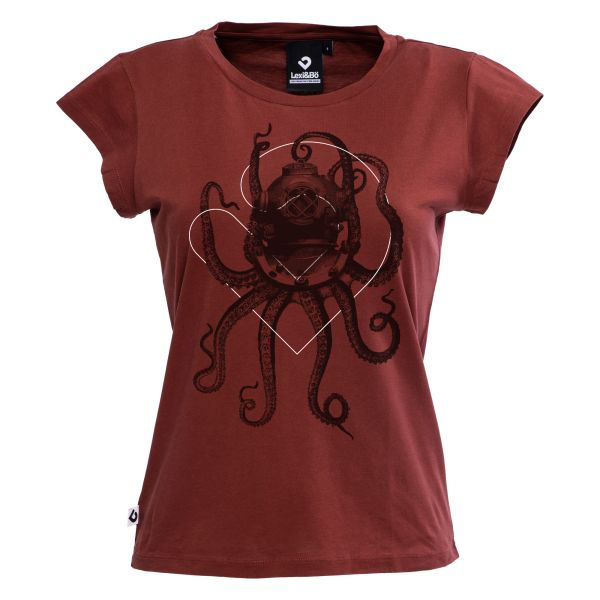 Nautical octopus T-shirt women