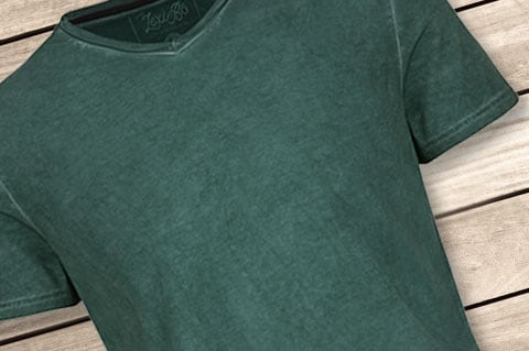 LexiBo-Herren-T-Shirt-V-Neck-Pineneedle-Cold-Wash-Style
