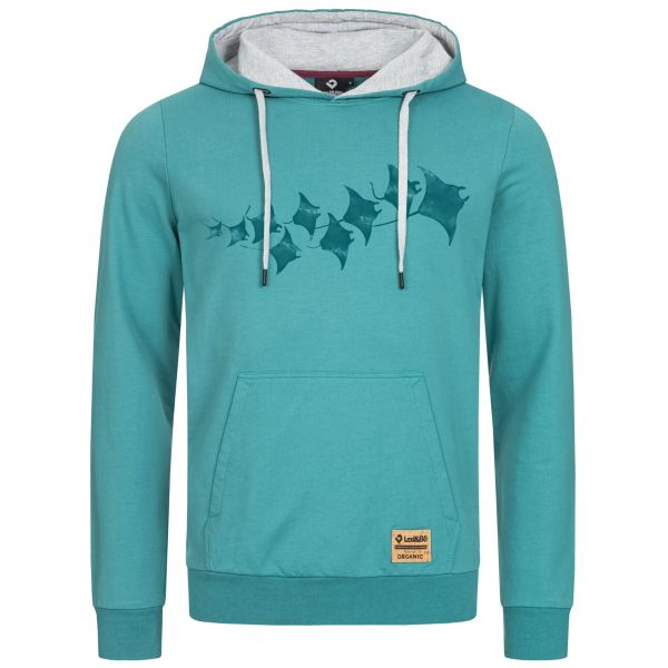 Manta Rays Men's Hoodie - colourful hoodie made from 100% organic cotton with eco-friendly Manta motif print