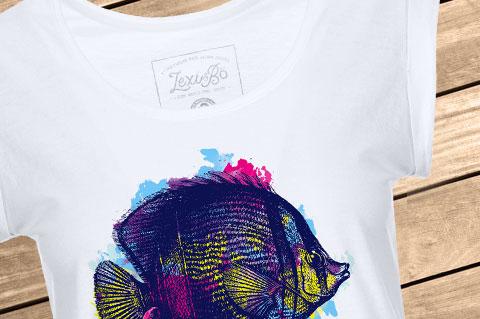 Lexi-Bo-T-Shirt-Design-Style-Butterflyfish-Women-white