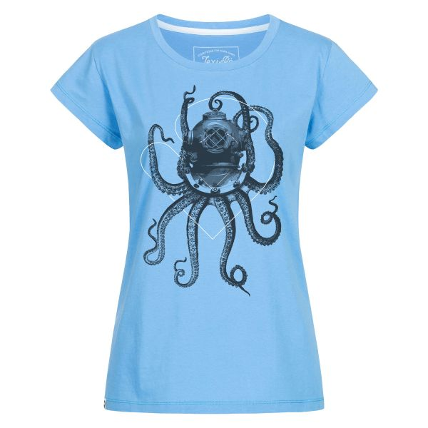 Nautical octopus T-shirt women