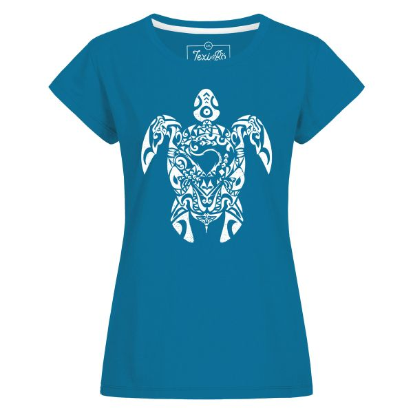 Tribal Turtle T-Shirt Damen