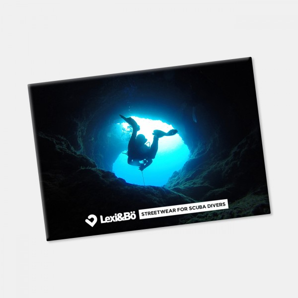 Cave Diving Fridge Magnet