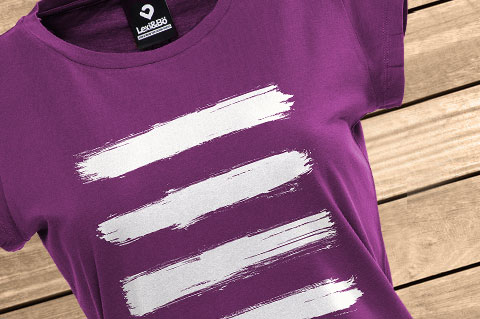 Brushed-Stripes-Women-T-Shirt-Aubergine