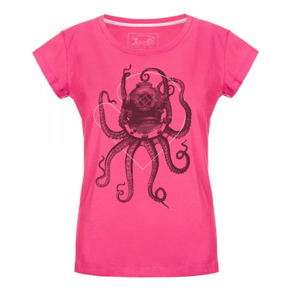 Nautical Octopus T-Shirt Damen