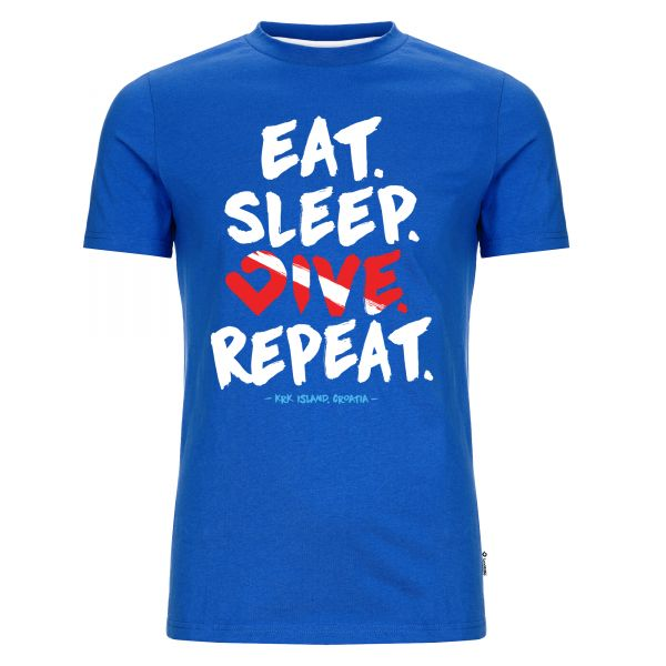 Eat. Sleep. Dive. Repeat. Herren T-Shirt