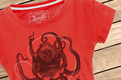 Lexi-Bo-T-Shirt-Design-Style-NauticalOctopus-FieryRed-women