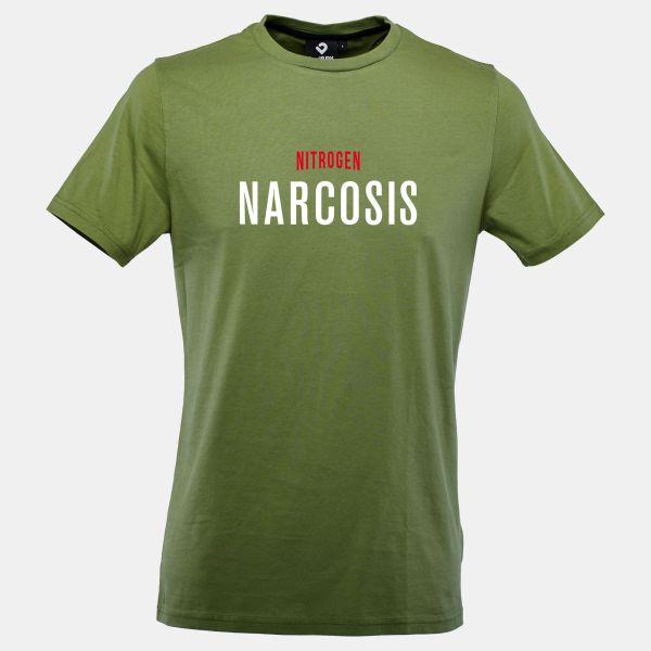 Nitrogen Narcosis T-Shirt in grün von Lexi&Bö - Vorderansicht