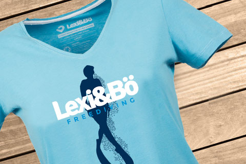 Freediving-T-Shirt-Women-Ocean-blue