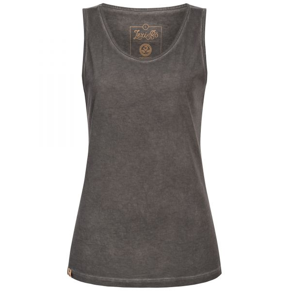 Black and grey tank top for women with used look