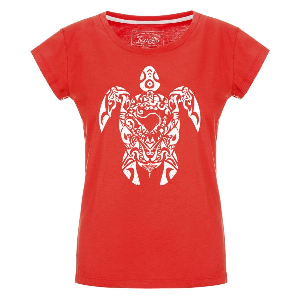 Tribal Turtle T-Shirt Damen