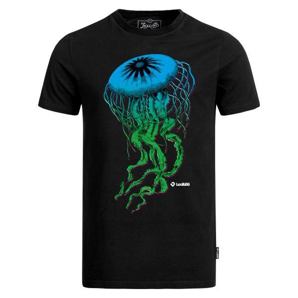 Die fette Qualle T-Shirt für Herren in schwarz - Aufdruck vorne