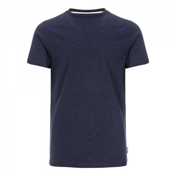 Basic Men T-Shirt Dark Blue Melange