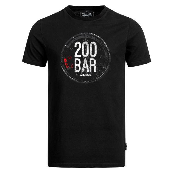 200 Bar T-Shirt für Herren in schwarz von Lexi&Bö - Vorderseite