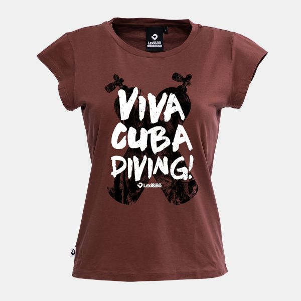 Viva Cuba Diving T-Shirt Women Red