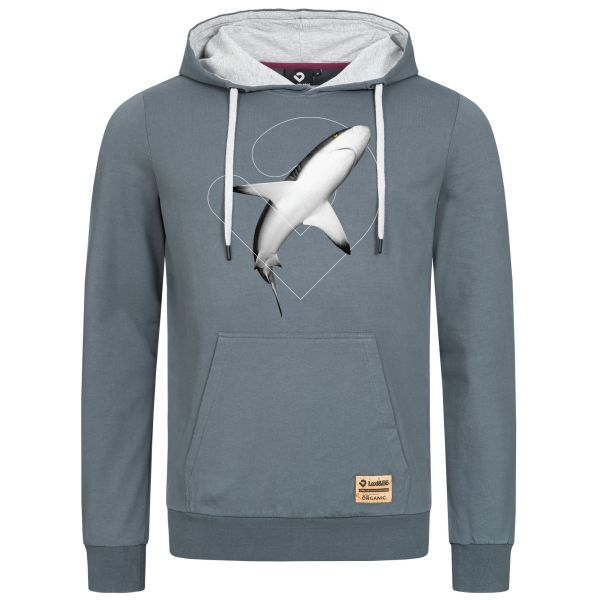 Men's Shark Hoodie Tiburón - Hooded sweatshirt with big shark motif print