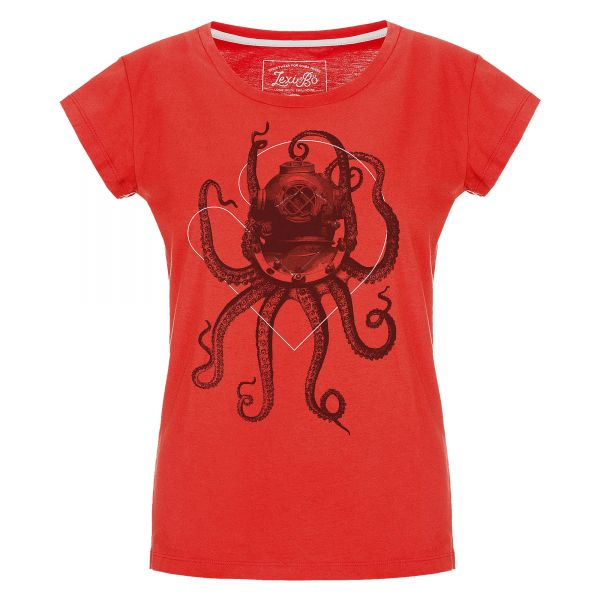 Nautical Octopus Damen T- Shirt