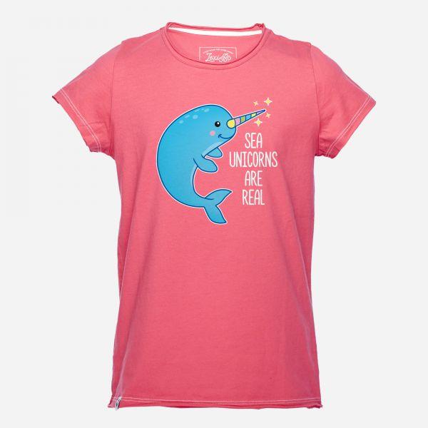 Sea unicorns are real Mädchen T-Shirt