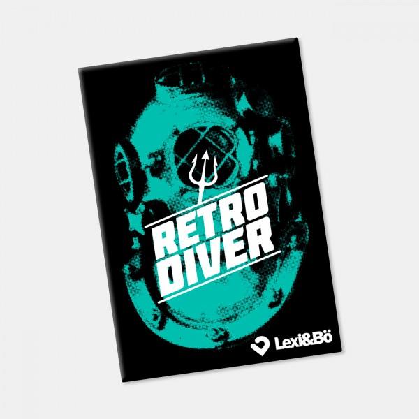Retro Diver Kühlschrankmagnet